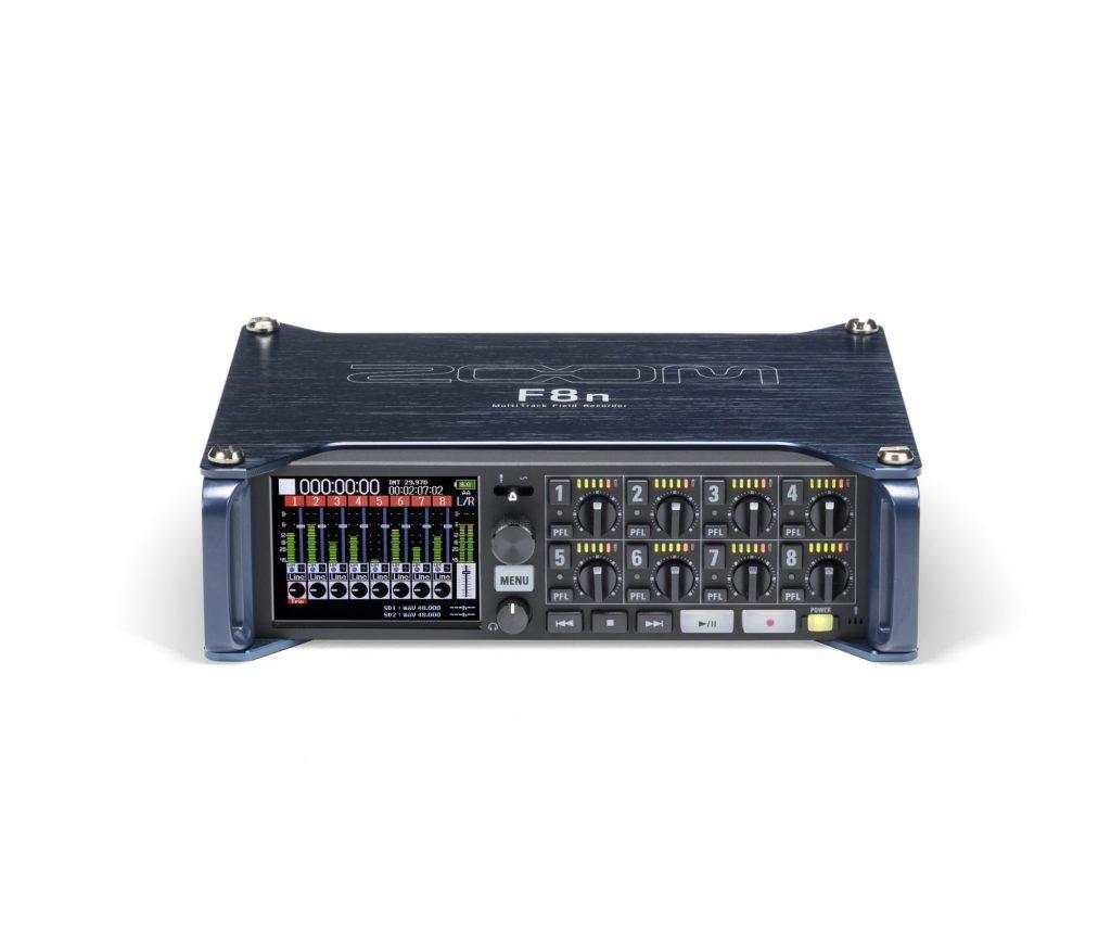 ズーム、8チャンネル入力、最大10トラック同時録音、最高24ビット/192kHz対応の業務用フィールドレコーダー『F8n』を発売