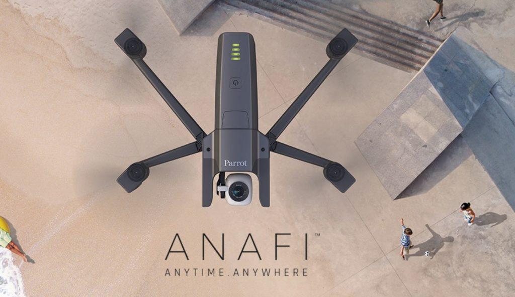 Parrot、飛行する4K HDRカメラ「ANAFI」を発売。180°チルトジンバルで空撮映像新時代へ