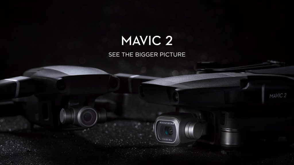 DJI、1型CMOS搭載、4/30p 10bit収録のMavic 2 Proと1/2.3型CMOS搭載、光学2倍ズーム対応のMavic 2 ZOOMを発表