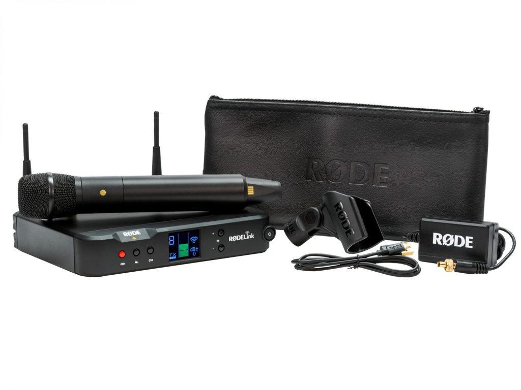 銀一、RODE Microphonesの高品質のワイヤレスハンドヘルドマイクとデスクトップレシーバーをセットにした「Performer Kit」を発売