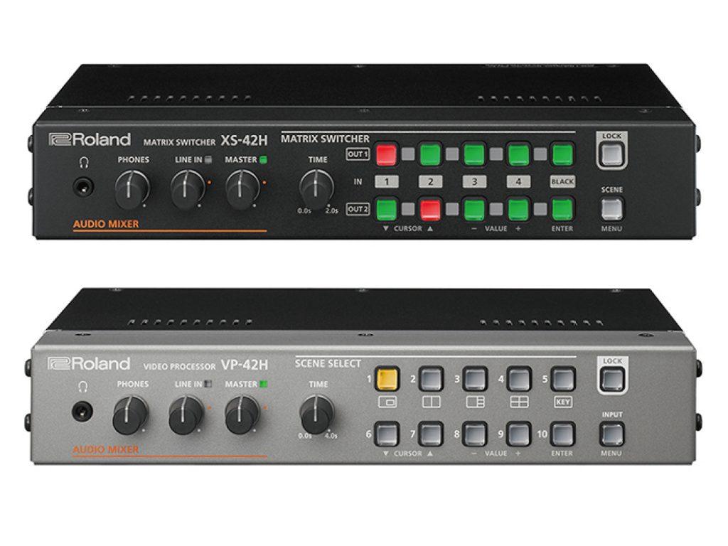ローランド、誰でも簡単に映像の切り替えや合成ができる業務用映像製品マトリックス・スイッチャー『XS-42H』とビデオ・プロセッサー『VP-42H』を発売