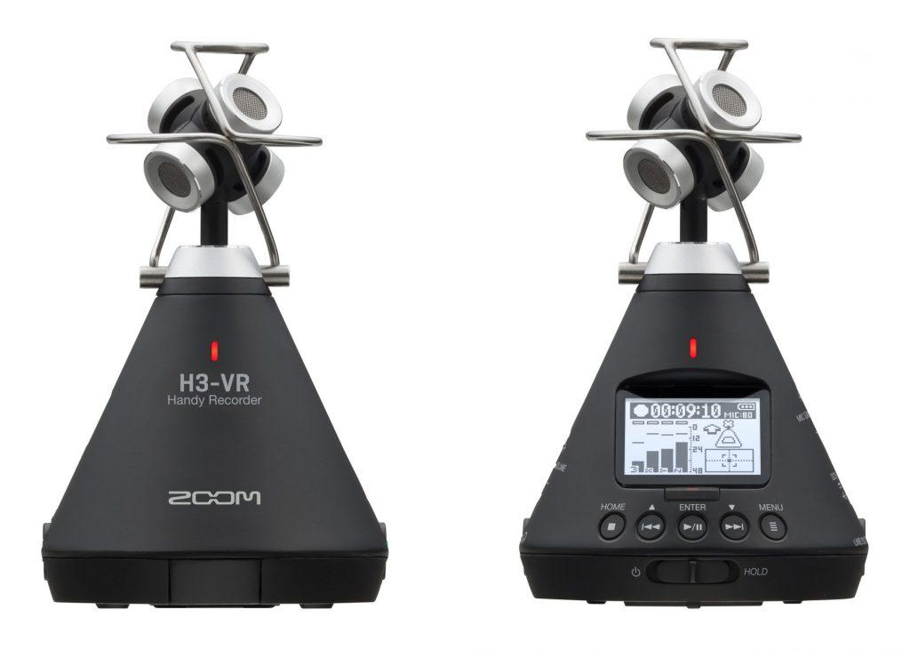 ZOOM、全方位の音を集音するアンビソニックス方式のVRマイクを搭載したハンディレコーダー『H3-VR』を発表