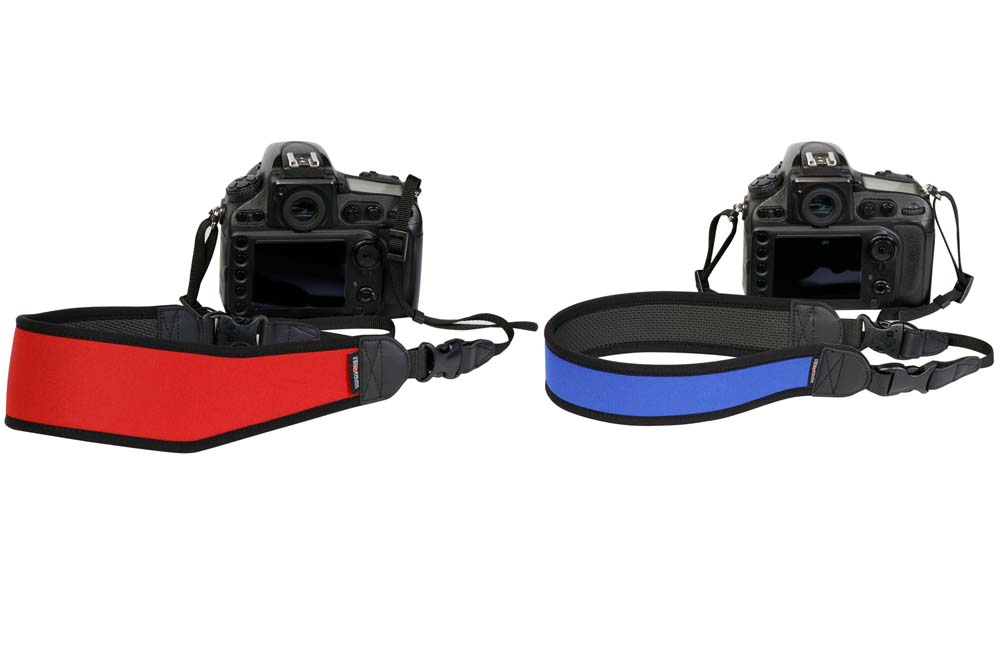 ケンコー・トキナー、首や肩への負担を軽減するカメラストラップ「ネオプレーンストラップ」を発売