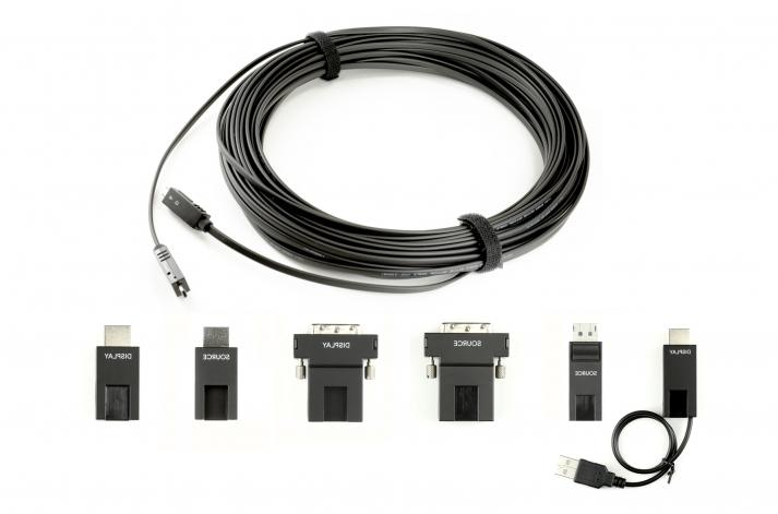 エーディテクノ、HDMI / DisplayPort / DVI-D対応 プラスチック光ファイバ脱着式マルチコネクタ ケーブル シリーズ発売