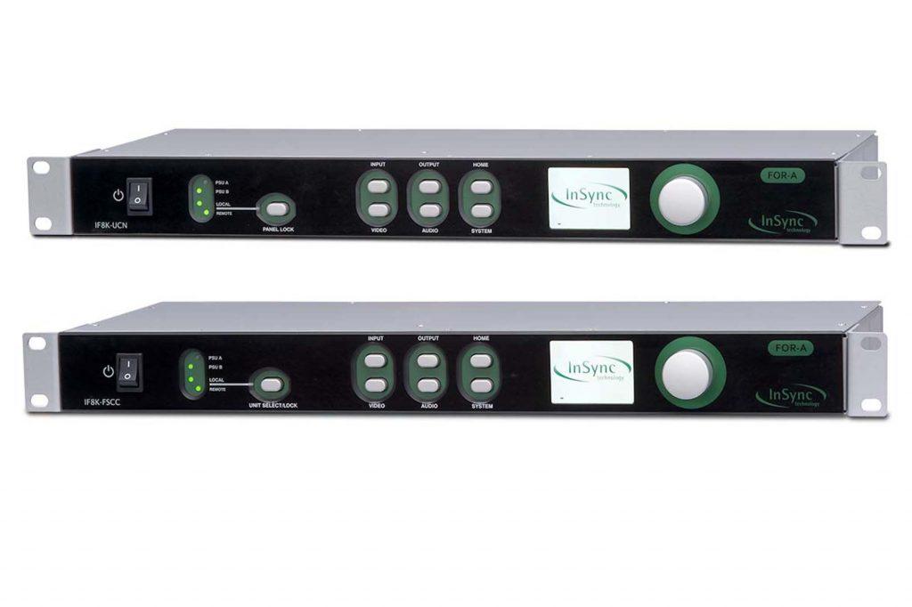 朋栄、InSync製8Kアップコンバーター IF8K-UCN、 8Kフレームシンクロナイザー IF8K-FSCC発売