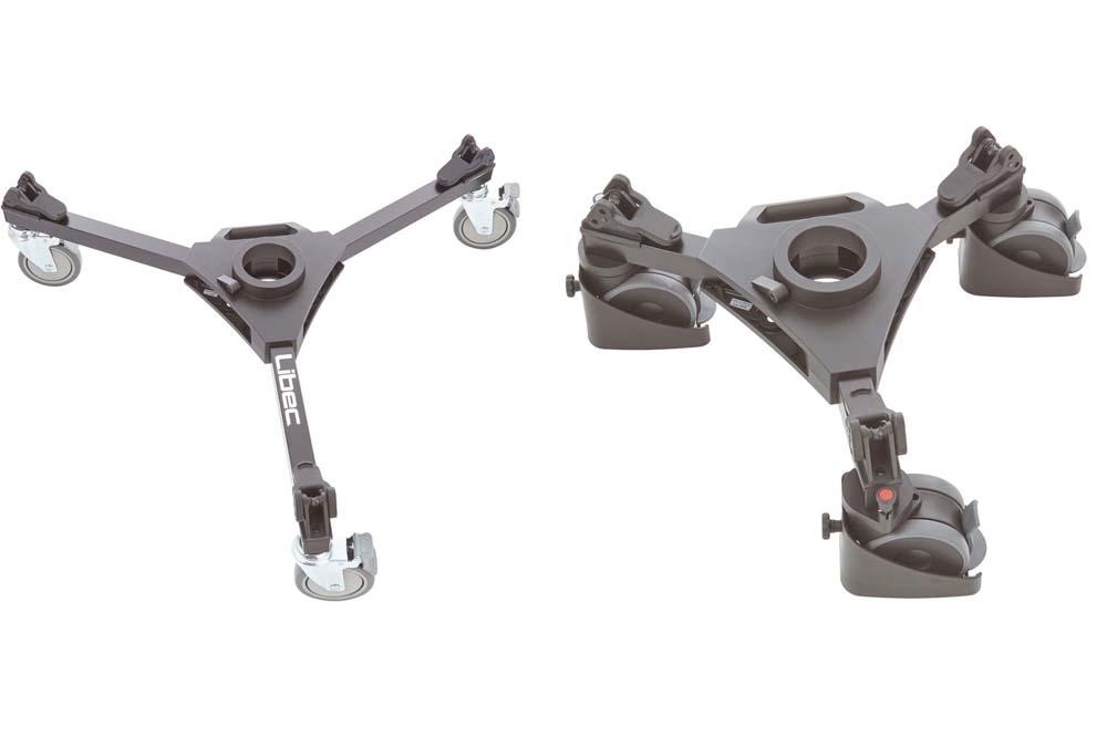 リーベック、三脚用ドリーの新商品『DL-8RB』『DL-10RB』『 DL-10RB Compact』『P110S Compact』、アクセサリーなどを発売