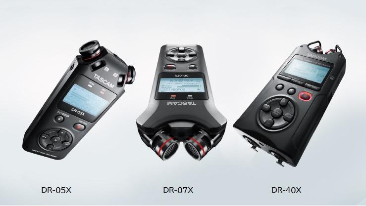 ティアック、TASCAMのリニアPCMレコーダー『DR-05X』『DR-07X』『DR-40X』を発売