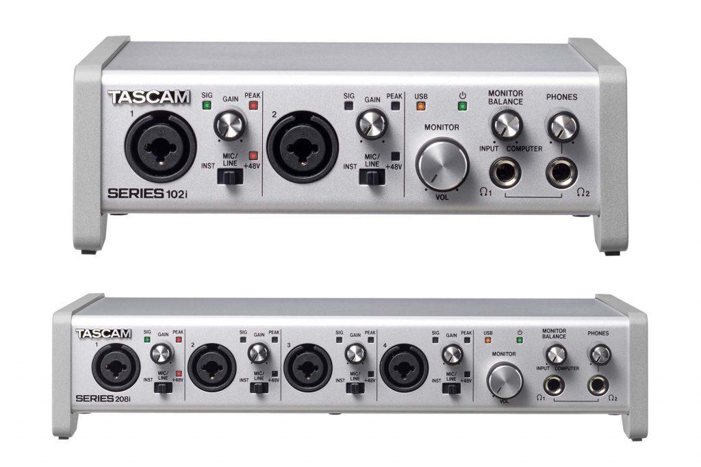 ティアック、タスカムUSBオーディオ/MIDIインターフェースの新製品 『 SERIES 102i 』『 SERIES 208i 』を発売
