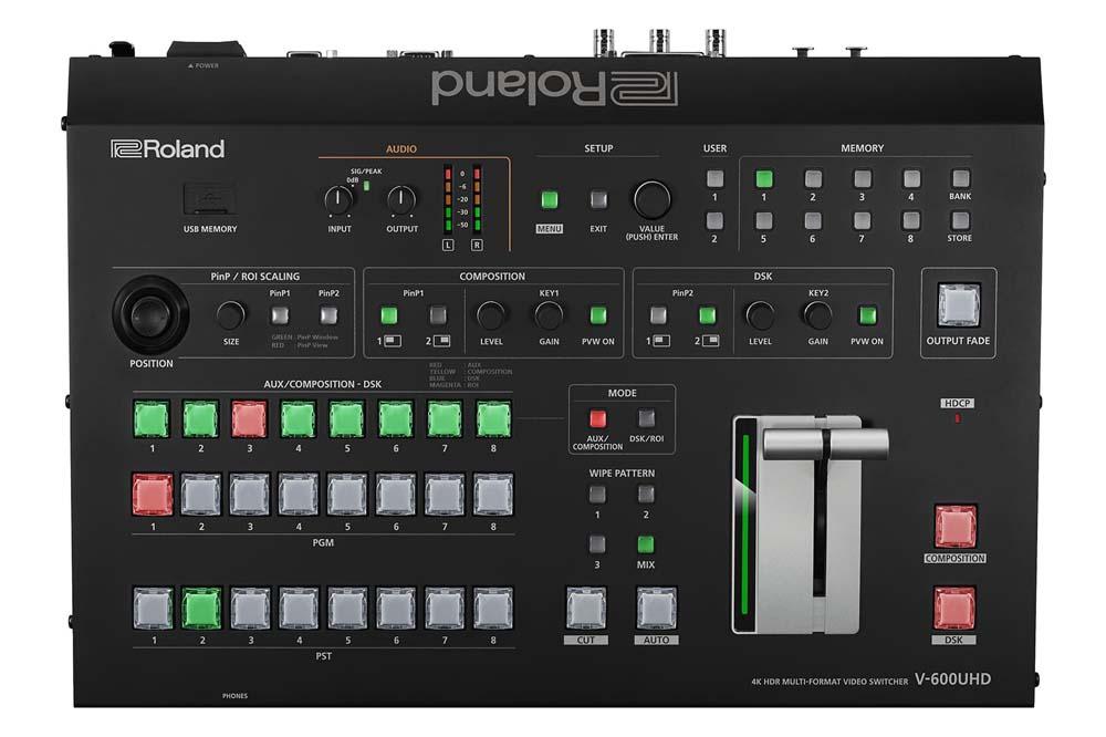 ローランド、4K HDR マルチフォーマット・ビデオ・スイッチャー『 V-600UHD 』を発表 高輝度LEDディスプレイを使ったイベントに最適