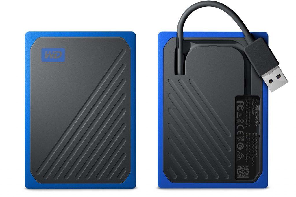 ウエスタンデジタル、USBケーブルを内蔵した『WD My Passport Go ポータブルSSD』を発売