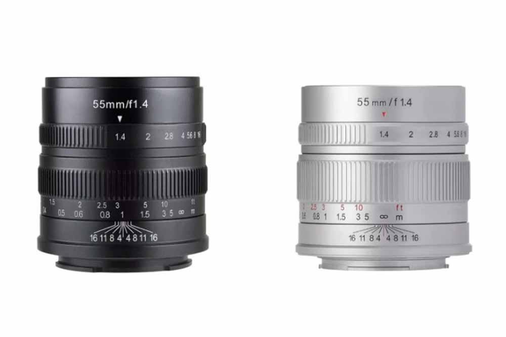 焦点工房、七工匠(しちこうしょう)の 単焦点レンズ 『7Artisans 55mm F1.4 』の ライカL、ソニーEマウントを発売