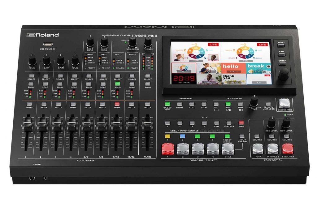 ローランド、映像演出からライブ配信まで1台で可能なAVミキサー『VR-50HD MK II』を発表