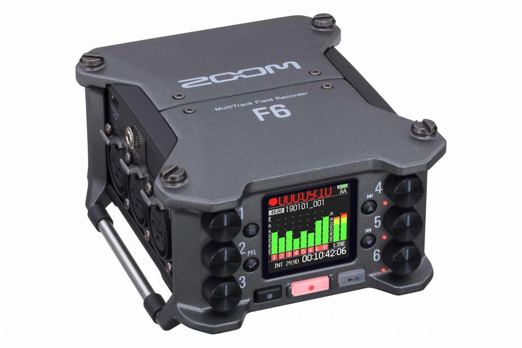 ズーム、32bitフロート録音に対応した6チャンネル入力の業務用フィールドレコーダー『F6』を発表