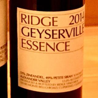 Ridge Geyserville Essence 2014