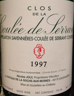 Nicolas Joly Clos de la Coulée de Serrant(ニコラ・ジョリー クロ・ド・ラ・クーレ・ド・セラン)