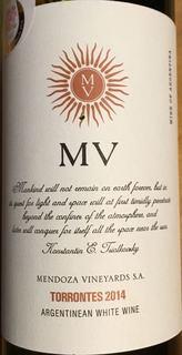 Mendoza Vineyards MV Torrontes(メンドーサ・ヴィンヤード MV トロンテス)
