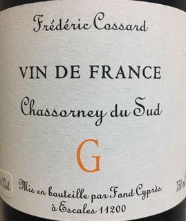 Frédéric Cossard Chassorney du Sud Cuvée G