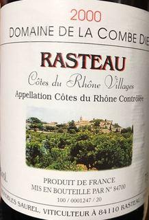 Dom. de la Combe Dieu Côtes du Rhône Villages Rasteau