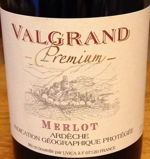 Valgrand Premium Ardèche Merlot(ヴァルグラン プレミアム アルデシュ メルロー)