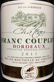Ch. Franc Couplet Bordeaux