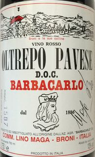 Barbacarlo Oltrepo Pavese Rosso