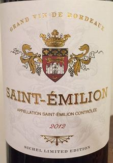 Sichel Limited Edition Saint Émilion