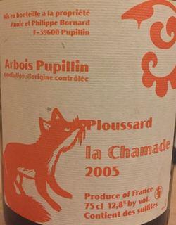 Philippe Bornard Arbois Pupillin Ploussard La Chamade