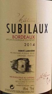 Ch. Subilaux Bordeaux