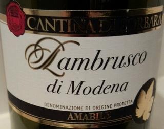 Cantina di Sorbara Lambrusco di Modena Amabile