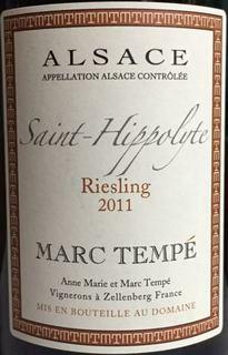 Marc Tempé Riesling Saint Hippolyte