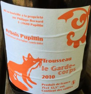 Philippe Bornard Arbois Pupillin Trousseau Le Garde Corps