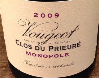 Dom. de la Vougeraie Vougeot Clos du Prieure Monopole Rouge(ドメーヌ・ド・ラ・ヴージュレ ヴージョ クロ・デュ・プリウール モノポール ルージュ)
