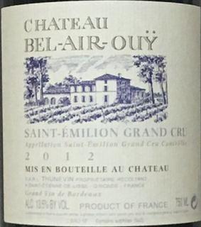 Ch. Bel Air Ouÿ