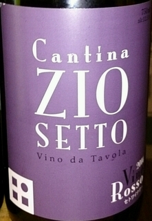 Cantina Zio Setto Vino Rosso(カンティーナ・ジーオセット ヴィーノ・ロッソ)