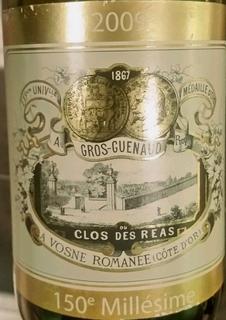 Gros Guenaud Vosne Romanée 1er Cru Clos des Réas Cuvée du 150eme Millésimé
