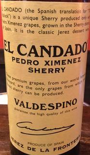 Valdespino El Candado Pedro Ximenez Sherry(バルデスピノ エル・カンダド ペドロ・ヒメネス シェリー)