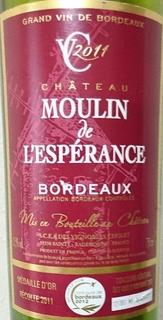 Ch. Moulin de l'Espérance Bordeaux