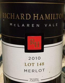 Richard Hamilton Lot 148 Merlot