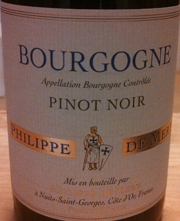 Philippe de Mery Bourgogne Pinot Noir(フィリップ・ド・メリー ブルゴーニュ ピノ・ノワール)