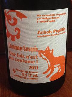 Philippe Bornard Arbois Pupillin Chardonnay Savagnin Une fois n'est pas coutume !