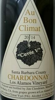 Au Bon Climat Santa Barbara County Chardonnay Los Alamos Vineyard Cuvée V(オー・ボン・クリマ サンタ・バーバラ・カウンティ シャルドネ ロス・アラモス・ヴィンヤード キュヴェ・ヴィ)