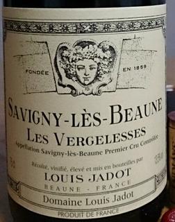Louis Jadot Savigny Lès Beaune 1er Cru Les Vergelesses Rouge(ルイ・ジャド サヴィニ・レ・ボーヌ プルミエ・クリュ レ・ヴェルジュレス ルージュ)