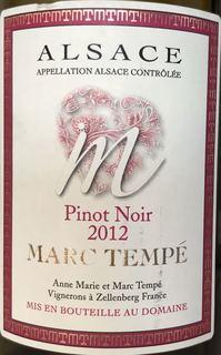 Marc Tempé Pinot Noir M