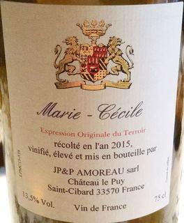 Ch. Le Puy Marie Cécile