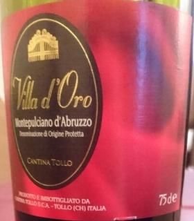 Cantina Tollo Villa d'Oro Montepulciano d'Abruzzo