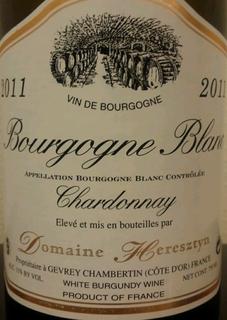 Dom. Heresztyn Bourgogne Blanc Chardonnay