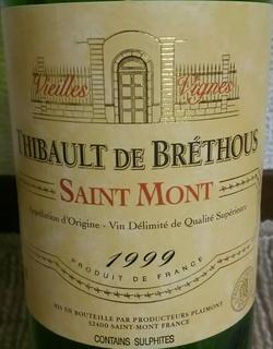 Thibault de Bréthous Saint Mont Vieilles Vignes