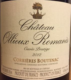 Ch. Ollieux Romanis Cuvée Prestige Rouge