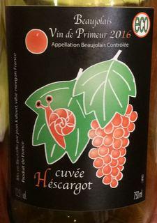Jean Foillard Beaujolais Vin de Primeur Cuvée Héscargot