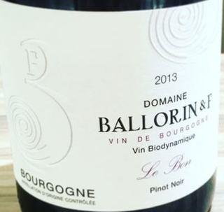 Dom. Ballorin & F. Bourgogne Pinot Noir Le Bon(ドメーヌ・バロラン・エ・エフ ブルゴーニュ ピノ・ノワール ル・ボン)